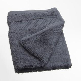 Serviette de toilette Coton peigné - 50 x 30 cm. - Anthracite