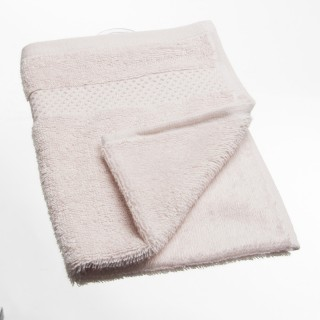 Serviette de toilette Coton peigné - 50 x 30 cm. - Rose