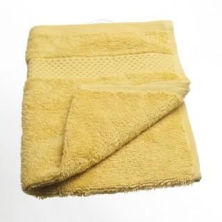 Serviette de toilette Coton peigné - 50 x 30 cm. - Ocre