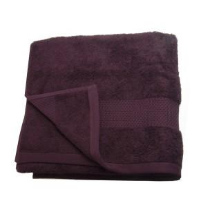 Serviette de toilette Coton peigné - 90 x 50 cm. - Bordeaux