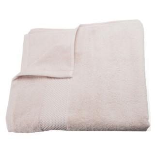Serviette de toilette Coton peigné - 130 x 70 cm. - Rose