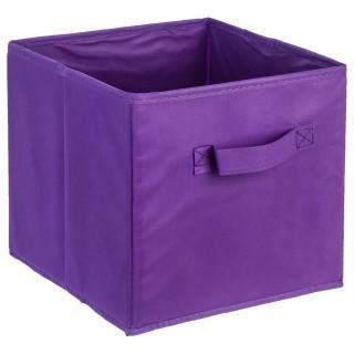 Bac de rangement avec poignée - Violet