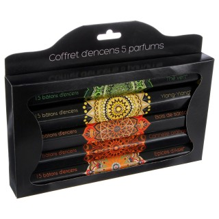 Coffret d'encens - 5 parfums
