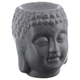 Brûle parfum en céramique - Bouddha - Gris