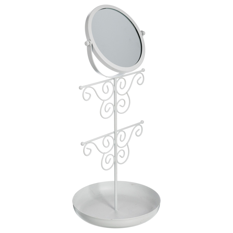Porte bijoux miroir romance - Blanc - DecoAndGo 28afe2656f8f