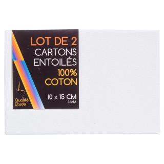 Carton entoilé en coton - 10 x 15 x 2 cm.