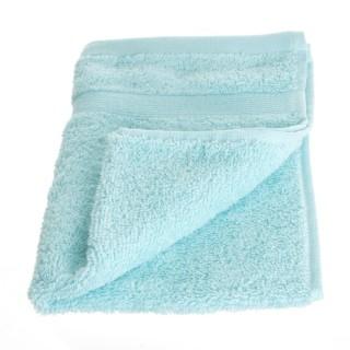 Serviette de toilette - 30 x 50 cm. - Bleu clair