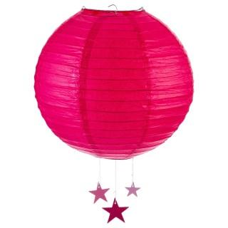 Lanterne Boule - Diam. 35 cm. - Fuchsia
