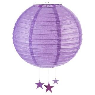 Lanterne Boule - Diam. 35 cm. - Violet