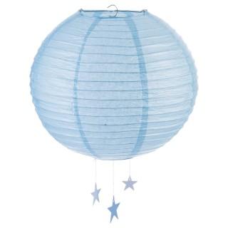Lanterne Boule - Diam. 35 cm. - Bleu