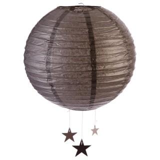 Lanterne Boule - Diam. 35 cm. - Taupe