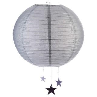 Lanterne Boule - Diam. 35 cm. - Gris