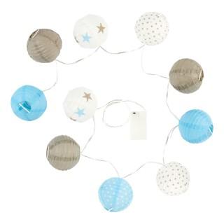 Guirlande 10 LED - Taupe et Bleu