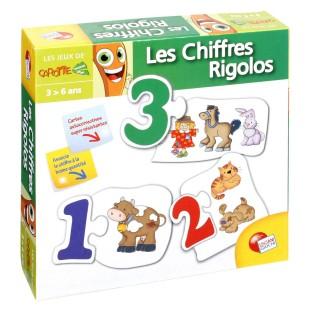 Jeu éducatif puzzle mes 1ers mots - Les chiffres Rigolos