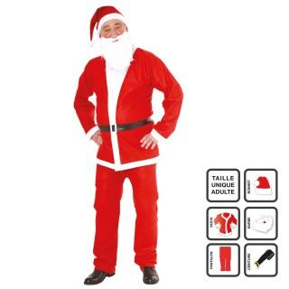 Déguisement père Noël - Adulte - 5 pièces