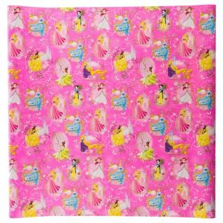 Papier cadeau princesse - 200 x 70 cm. - Rose foncé