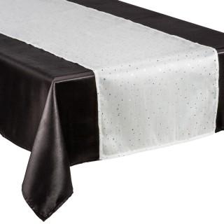 Chemin de table - 40 x 140 cm. - Blanc