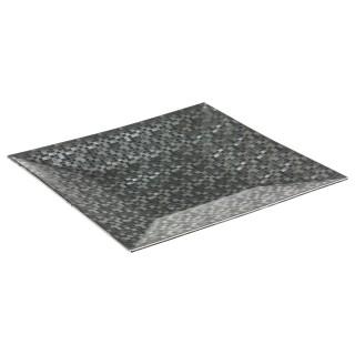 Assiette de présentation carrée Pixel - Argent