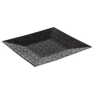 Assiette de présentation carrée Pixel - Noir