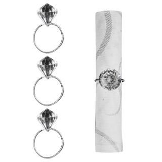 4 Ronds de serviette - Diamant