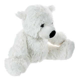 Peluche ours blanc - H. 29 cm.