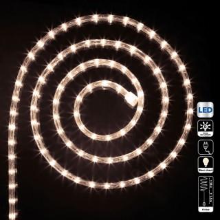 Guirlande tube LED d'extérieur - 24 m. - Blanc chaud