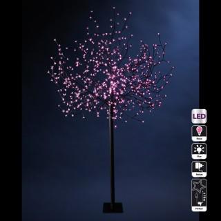 Arbre lumineux d'extérieur Prunus - 600 LED - Rose
