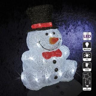 Décoration de Noël d'extérieur Lumineuse - Bonhomme de neige