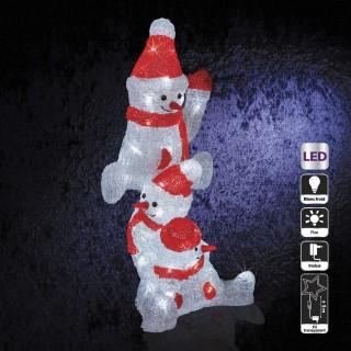 Décoration de Noël d'extérieur Lumineuse - Bonhommes de neige