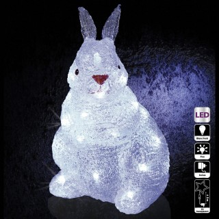 Décoration de Noël d'extérieur Lumineuse - H. 28 cm - Lapin