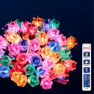 Guirlande de Noël lumineuse - 50 LED - Multicolore
