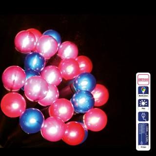 Guirlande de Noël lumineuse Perles - 50 LED - Multicolore