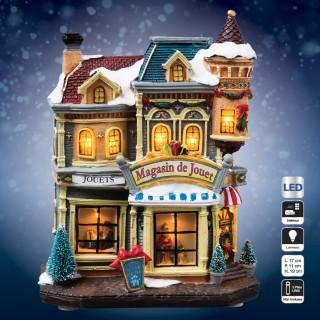 Village de Noël lumineux - Magasin de jouet