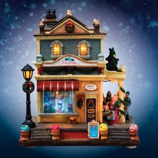 Village de Noël lumineux - Fleuriste