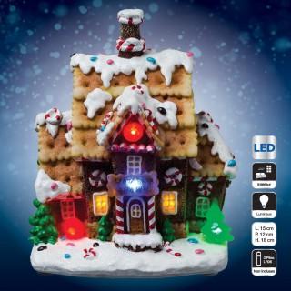 Village de Noël lumineux - Maison gourmande