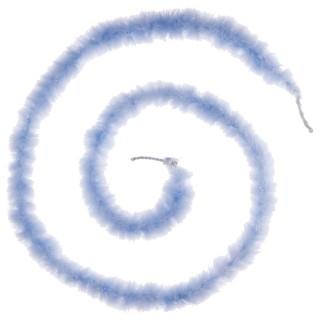 Guirlande de Noël Boa Plume - 1,60 m - Bleu ciel