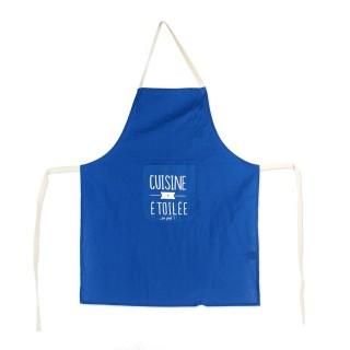 Tablier de cuisine Mots - Bleu