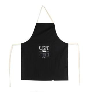Tablier de cuisine Mots - Noir