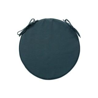 Galette de chaise ronde - Diam. 42 cm - Bleu orage