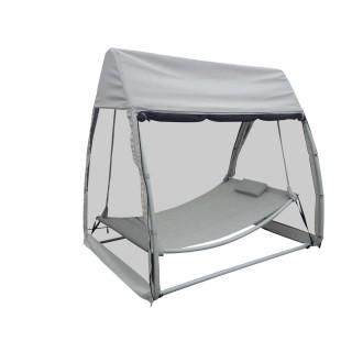 Hamac couvert avec moustiquaire Trinidad - Gris