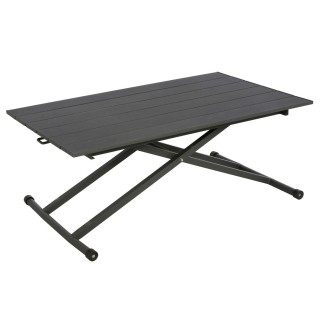 Table basse rectangulaire Venezia - 120 x 75 cm - Graphite