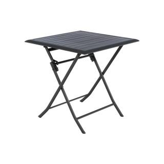 Table pliante carrée Azua - 2 Places - Graphite