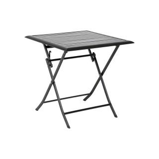 Table pliante carrée Azua - 2 Places - Noir