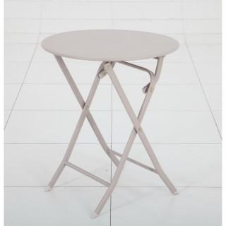 Table pliante ronde Greensboro - 2 Places - Taupe