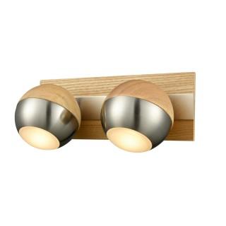Spot Verus - 22 x 8 x 12 cm. - Bois, acier, chrome