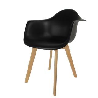 Fauteuil Scandinave Mobiliers Design - Noir