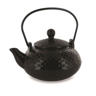 Théière avec infuseur en céramique - 850 ml - Noir