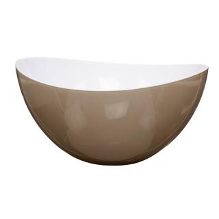 Saladier en plastique - Courbes design - Bicolore Taupe