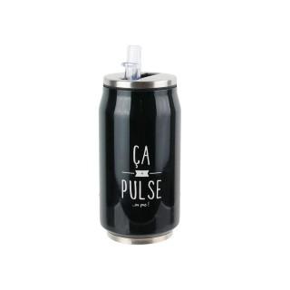 Canette avec paille intégrée - 28 cl - Ca pulse ou pas