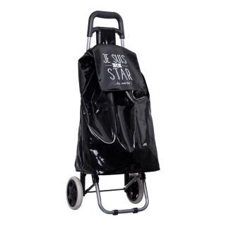 Chariot shopping 2 roues Je suis - Noir